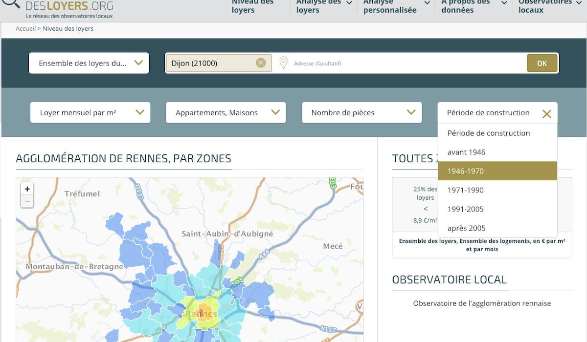 D'après l'Observatoire, le loyer médian à Rennes est fixé à 10,4 euros/m2.