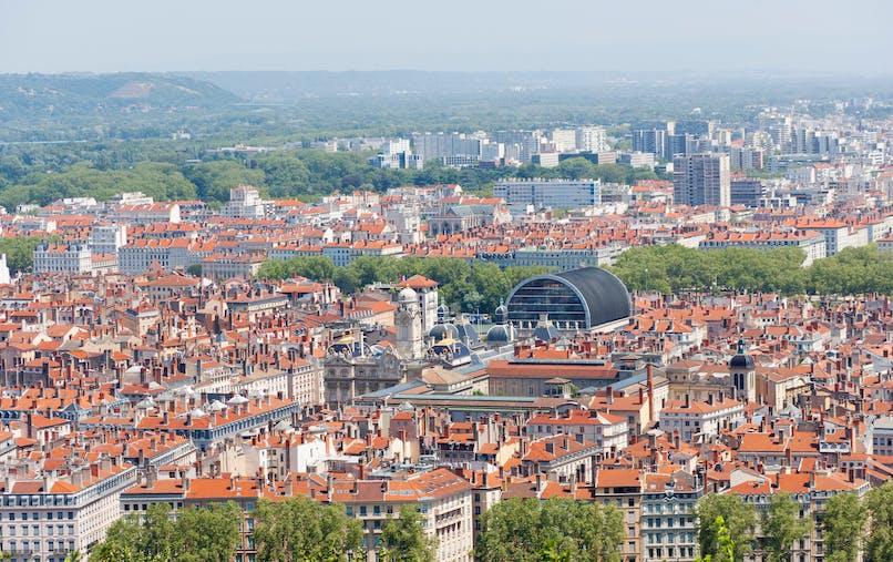 Vue de Lyon, troisième ville de France.