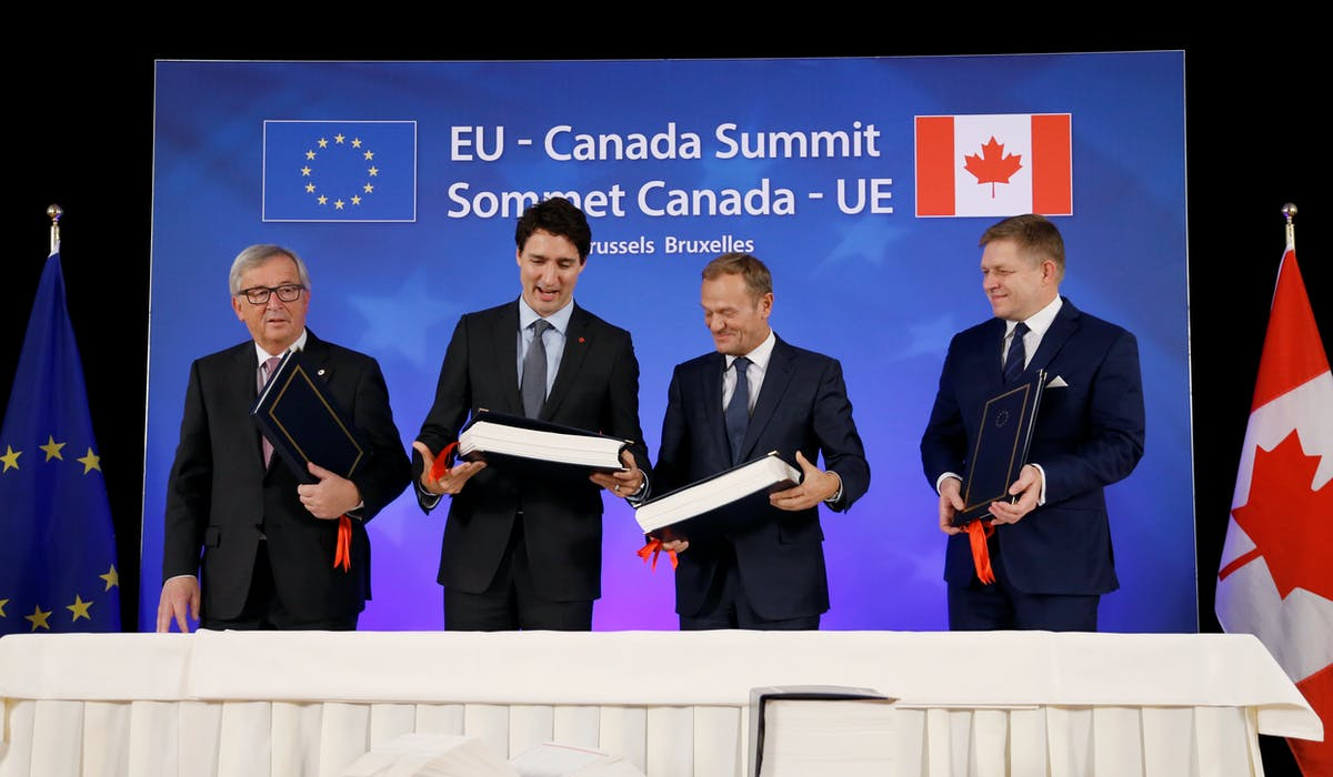L'Accord économique et commercial global signé le 30 octobre dernier est un traité commercial bilatéral conclu entre l'Union européenne et le Canada.