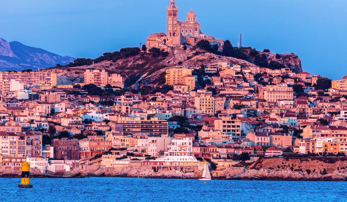 Vue de Marseille depuis l'archipel du Frioul.