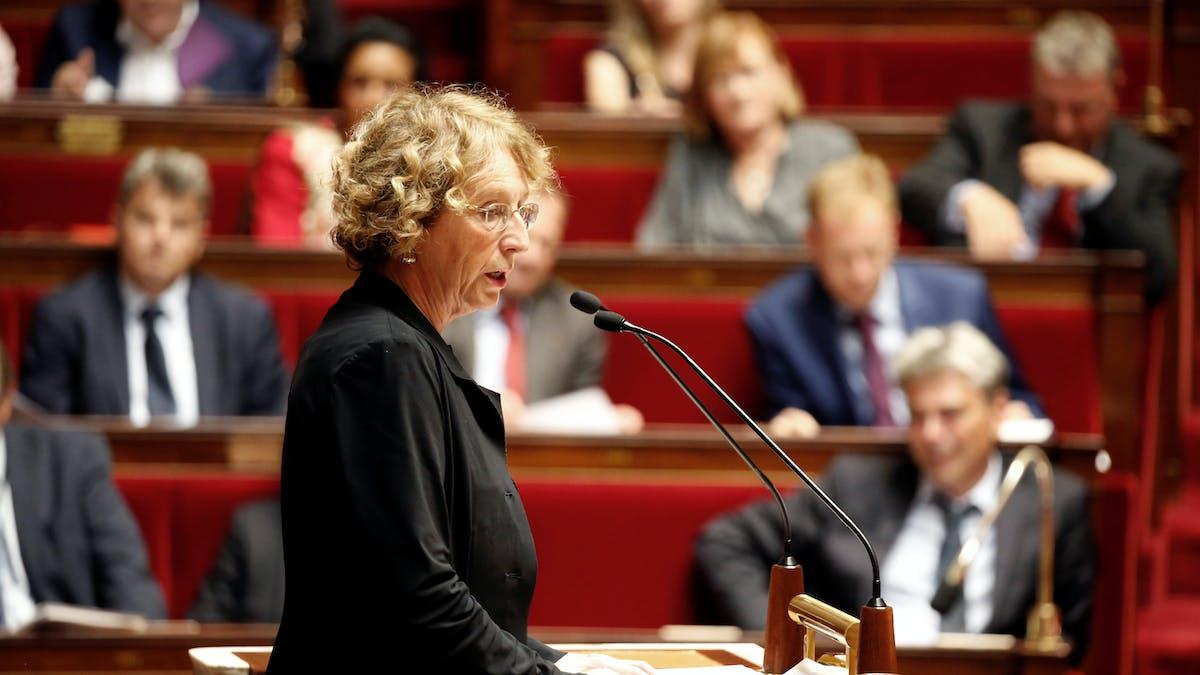 La ministre du Travail, Muriel Pénicaud, lundi 10 juillet, lors de son discours à l'ouverture des débats sur le projet de loi dans l'hémicycle du Palais Bourbon.