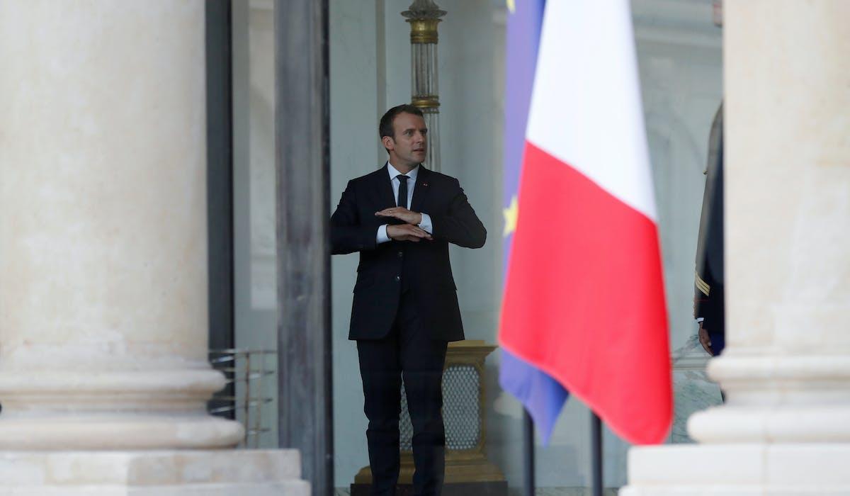 Emmanuel Macron dimanche 16 juillet à l'Elysée.