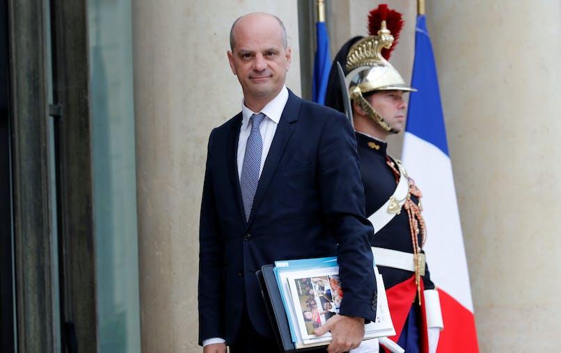 Jean-Michel Blanquer à son arrivée à l'Elysée, mercredi 30 août, pour le premier Conseil des ministres suivant la pause estivale.