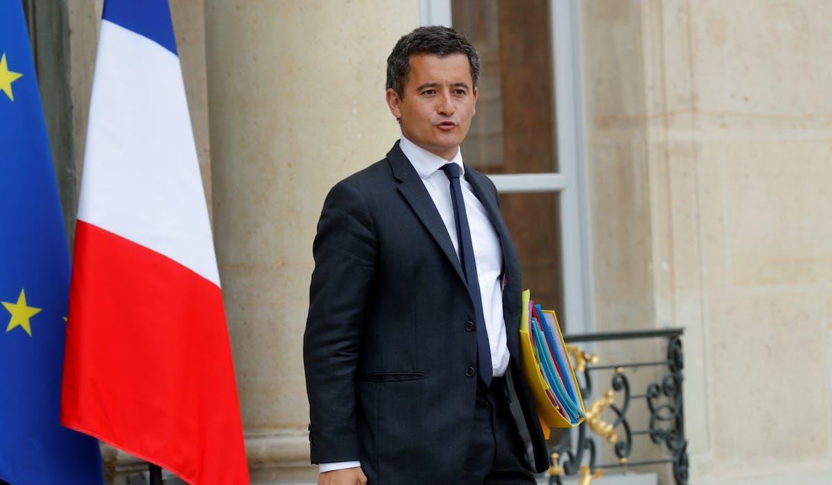 Gérald Darmanin, à la sortie du premier Conseil des ministres après la pause estivale, le 30 août.