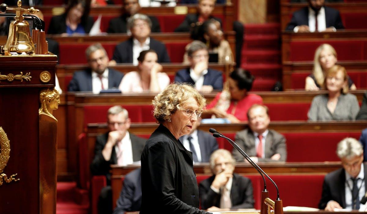 La ministre du Travail, Muriel Pénicaud, lors du débat sur le projet de loi d'habilitation à l'Assemblée nationale.