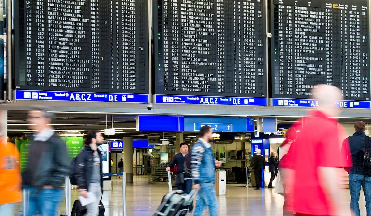 L'aéroport de Francfort-sur-le-Main, en Allemagne.
