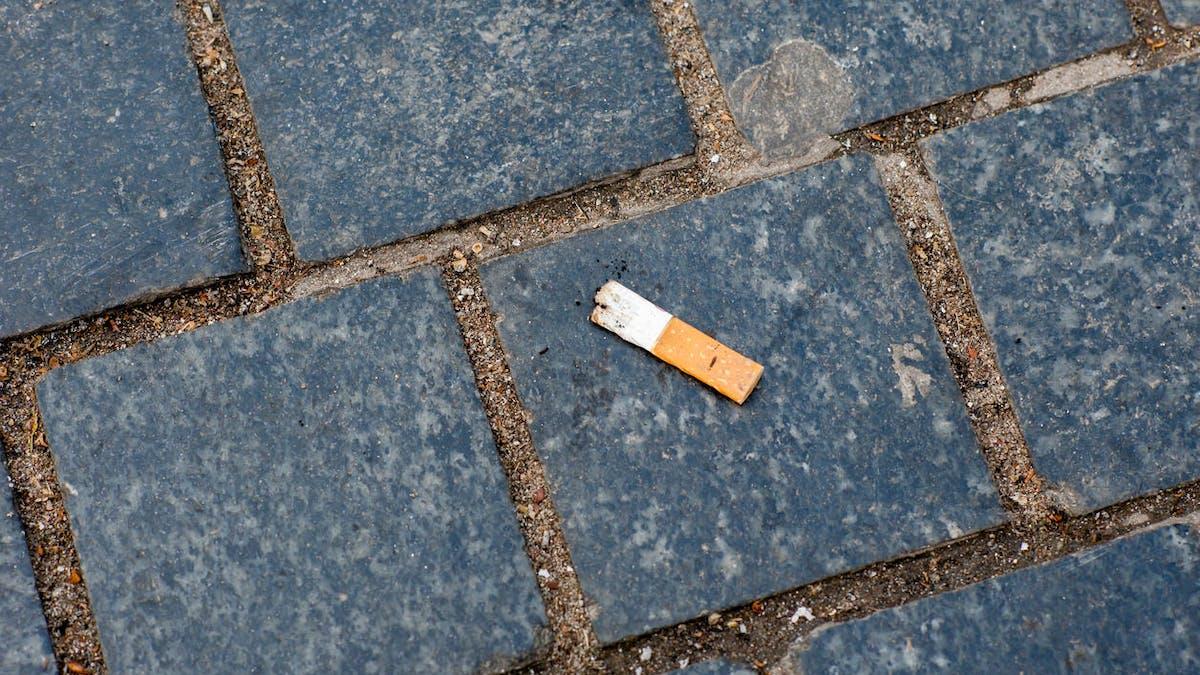 30 milliards de mégots de cigarettes sont jetés par terre en France chaque année.