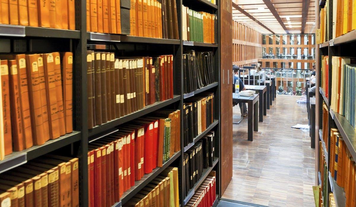 La bibliothèque de l'université Humbold de Berlin, en Allemagne.