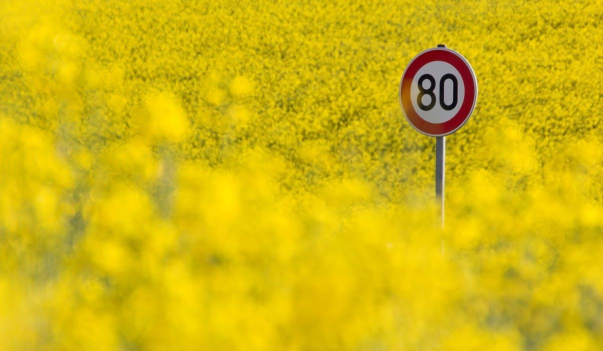 A partir du 1er juillet, la vitesse sur les routes secondaires sera limitée à 80 km/h.
