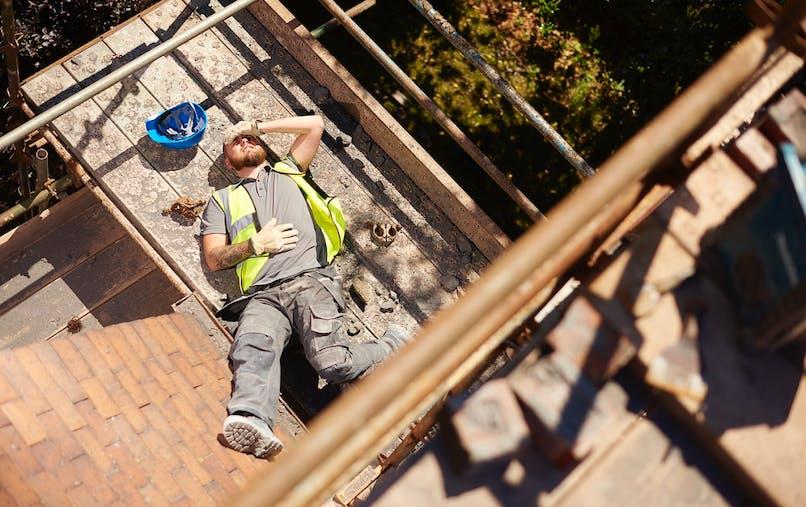 Les chutes de hauteur sont la deuxième cause de mortalité au travail.