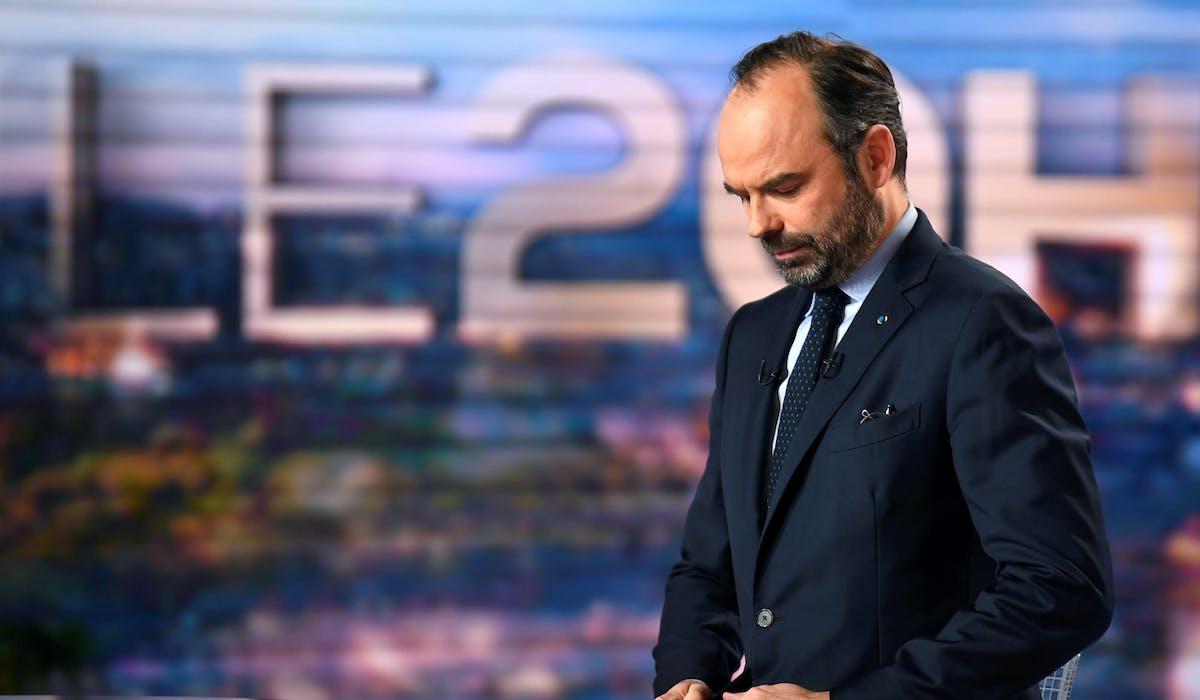 Edouard Philippe sur le plateau du 20 heures de TF1, lundi.