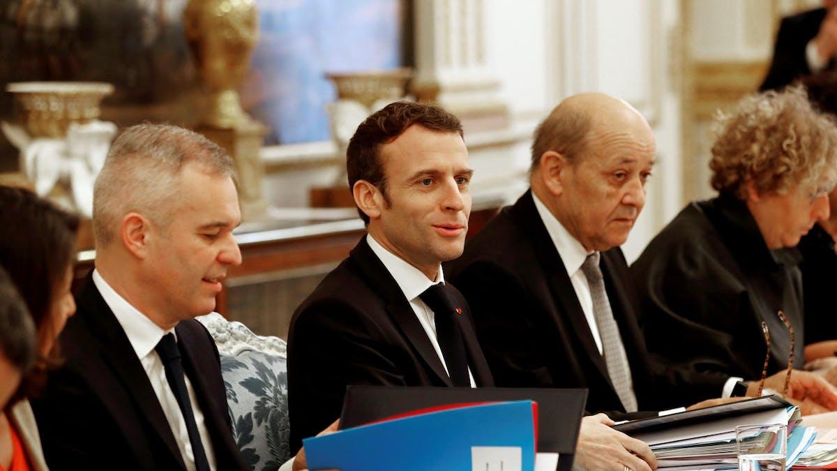 Emmanuel Macron lors du Conseil des ministres, mercredi 9 janvier.