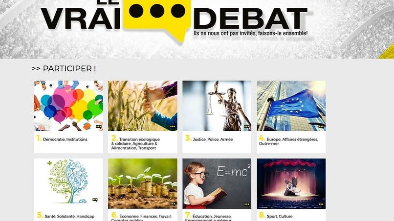 Grand débat national : les gilets jaunes proposent leur propre plateforme