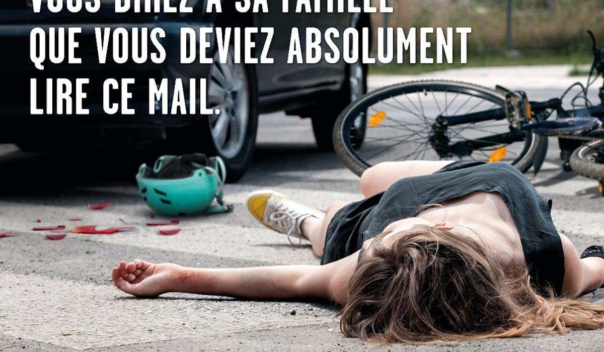 Le téléphone au volant est responsable d'un accident corporel sur dix.