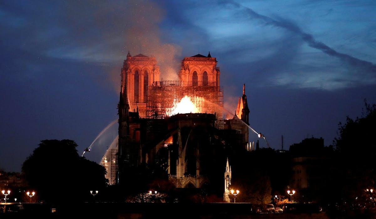 Notre-Dame de Paris, le 15 avril.