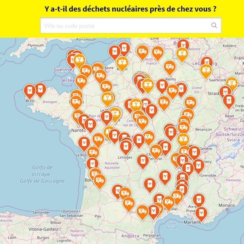 Nucléaire : Vérifiez s'il y a des déchets nucléaires stockés près de chez vous avec la carte de Greenpeace