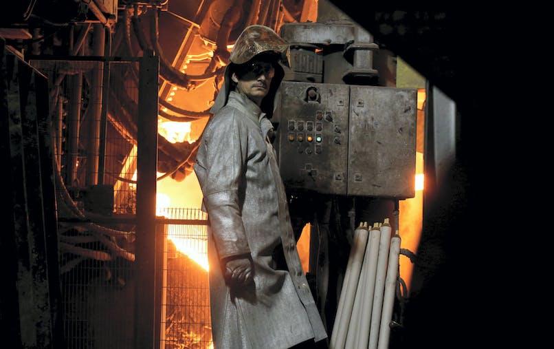 Un salarié à l'usine Ascoval de Saint-Saulve (Nord), en novembre 2018.