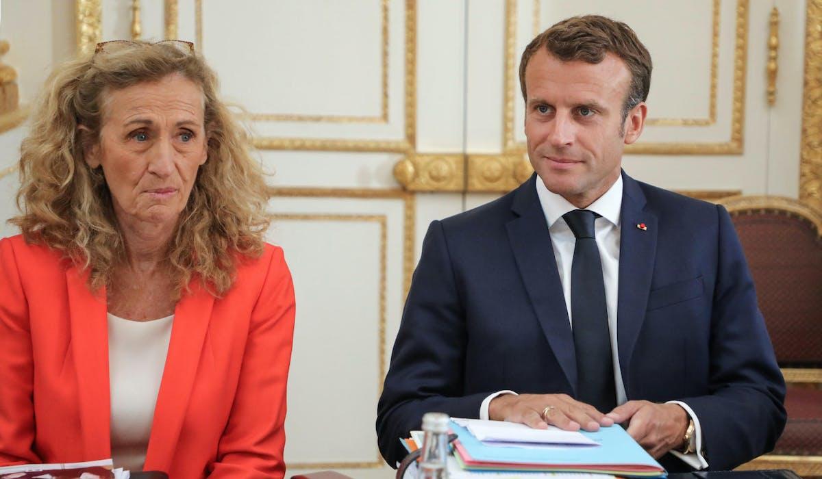 Nicole Belloubet et Emmanuel Macron le 4 septembre à l'Elysée.