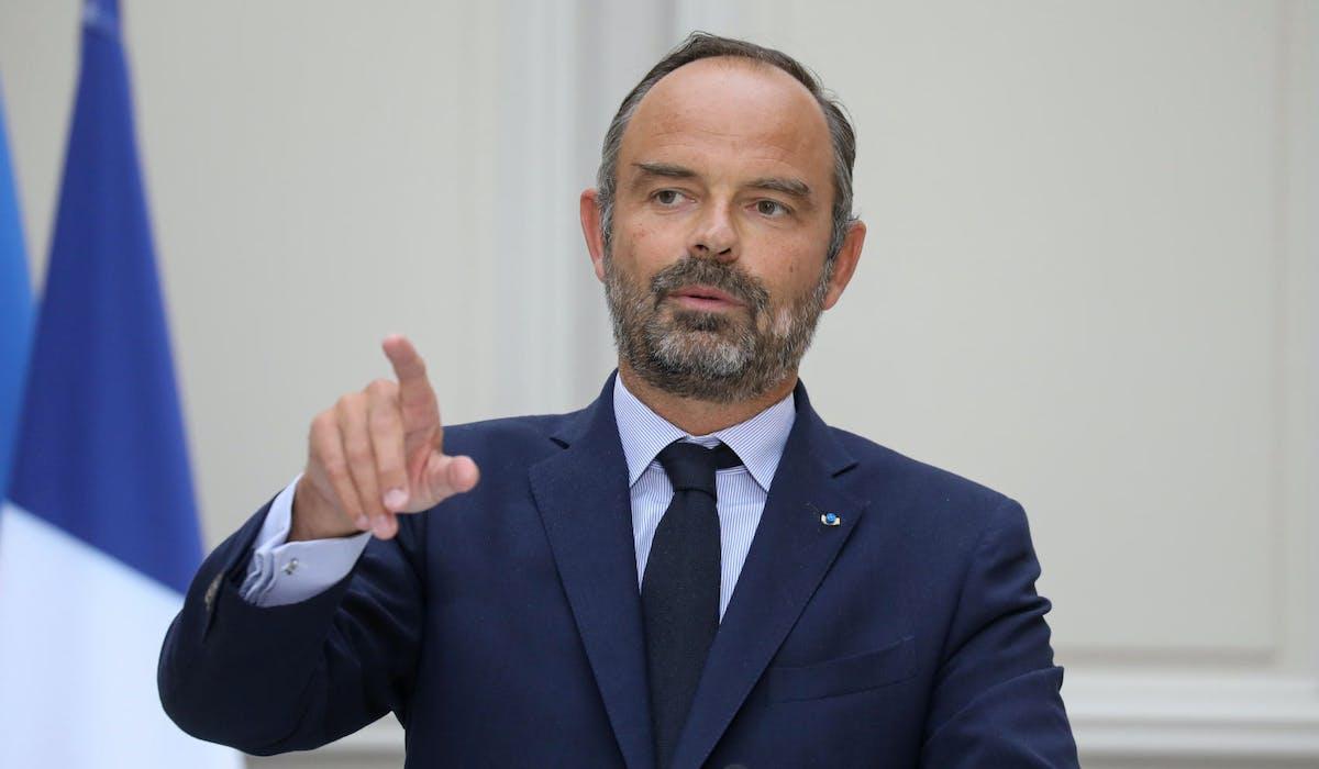 Edouard Philippe lors d'une conférence de presse à l'Elysée, le 4 septembre.