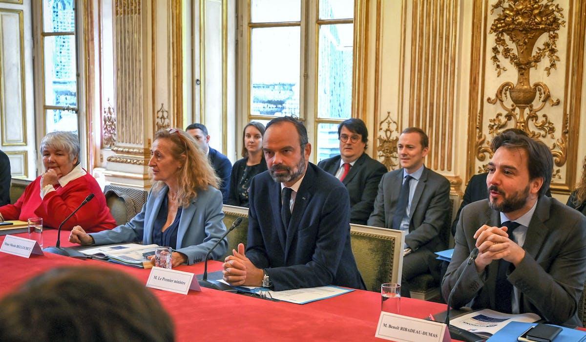 Edouard Philippe lors du comité interministériel sur l'immigration et l'intégration, mercredi à Matignon.