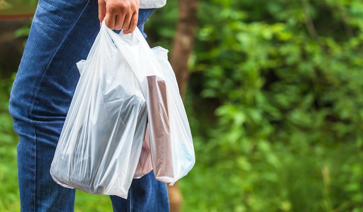 Les sacs en plastique à usage unique sont interdits.