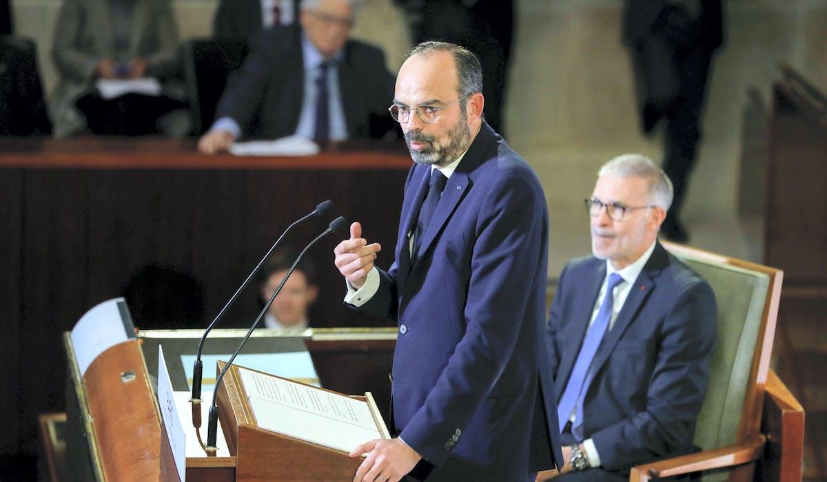 Edouard Philippe devant le Conseil économique, social et environnemental, mercredi 11 décembre.