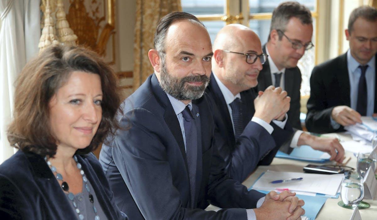 Edouard Philippe lors d'une réunion à Matignon le 10 janvier.