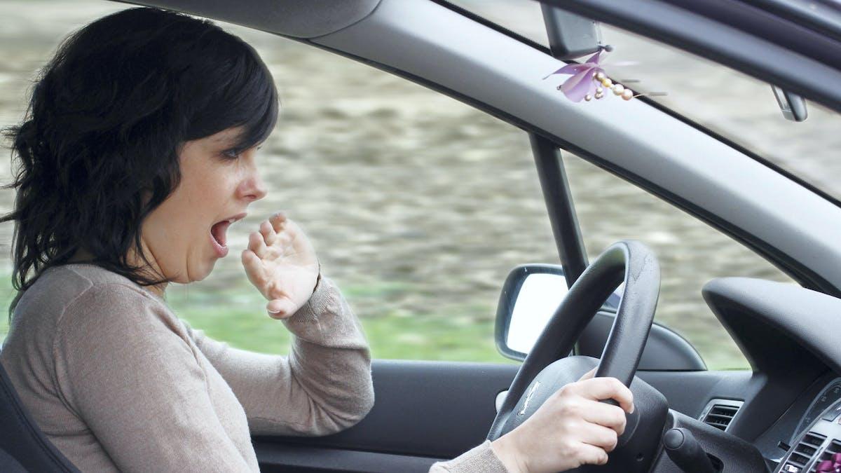 La somnolence au volant est un facteur d'accident.