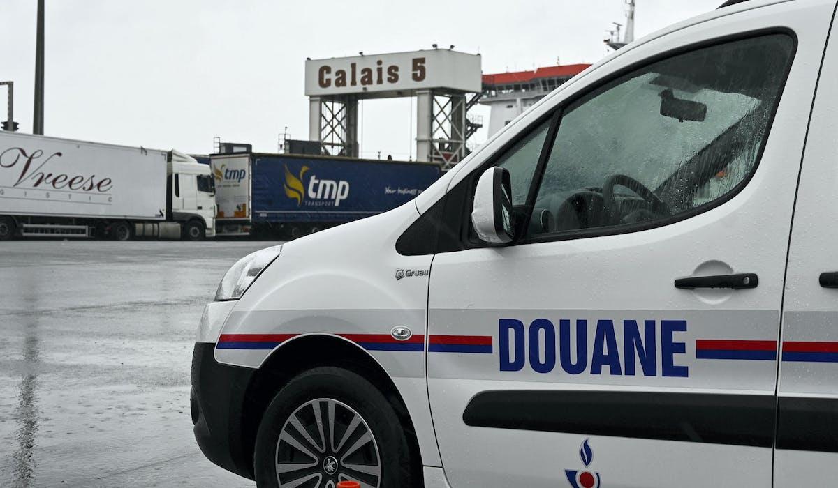 Le terminal ferry de Calais, le 24 septembre 2019, lors d'un test de rétablissement du contrôle douanier.
