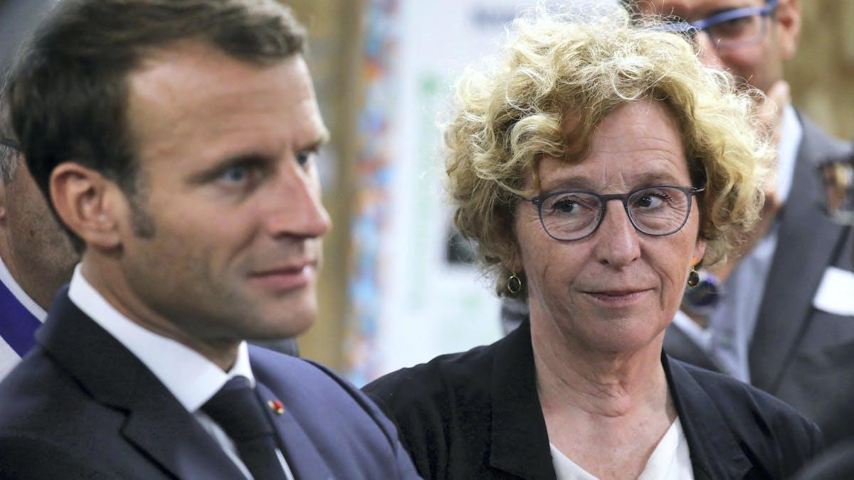 Emmanuel Macron et Muriel Pénicaud, le 10 septembre 2019 à Bonneuil-sur-Marne (Val-de-Marne).