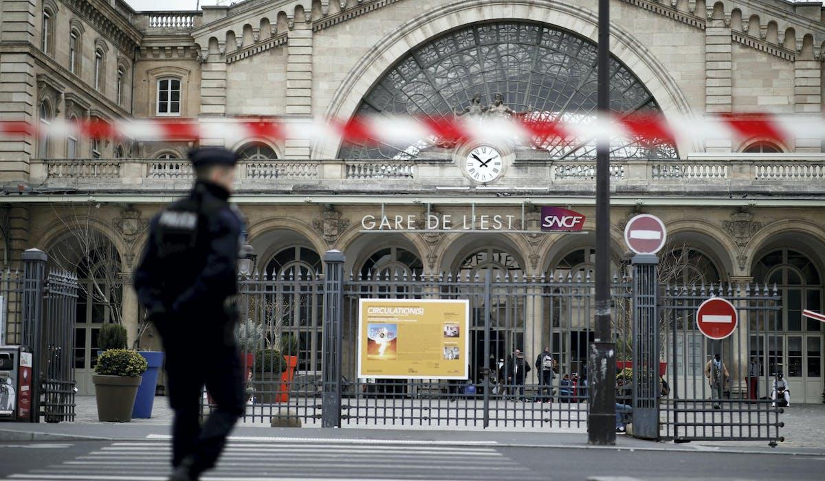 La gare de l'Est à Paris, le 17 mars.