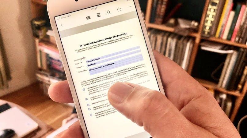L'attestation de déplacement sur smartphone officielle (enfin) disponible