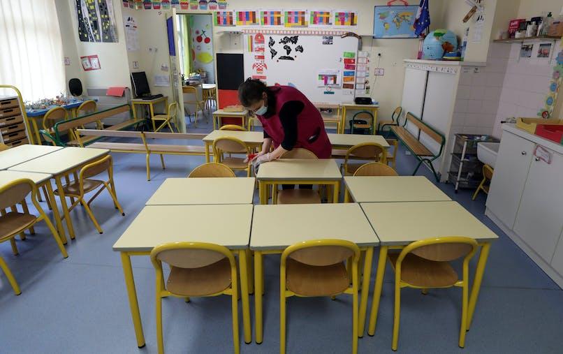 Dans une école à Nice, le 22 avril.