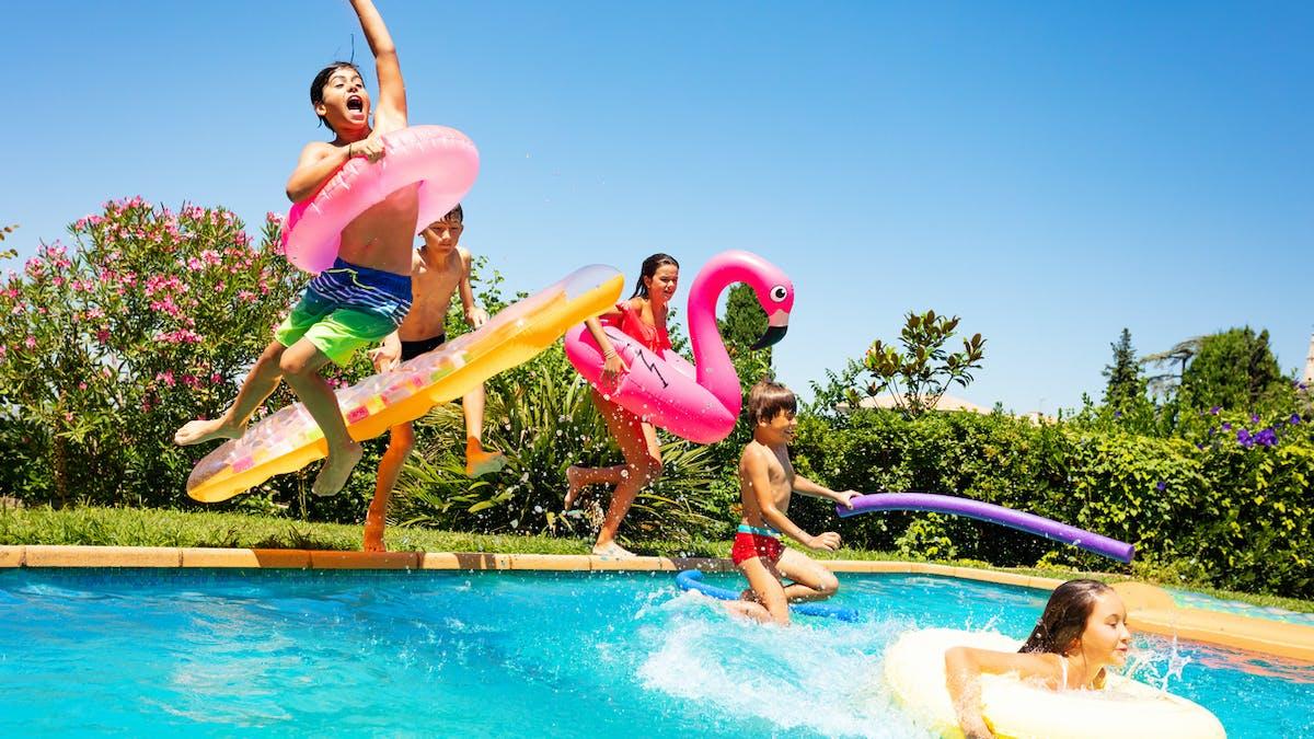 Les vacances, une piscine