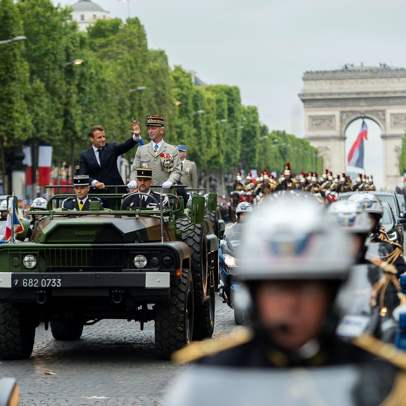 14-Juillet: une cérémonie pour les militaires et les soignants
