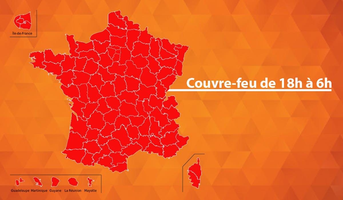 Covid-19 : carte des départements en couvre-feu de 18h à 6h en France