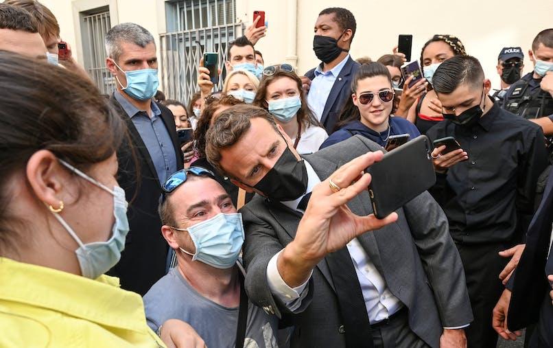 Emmanuel Macron, foule, Valence
