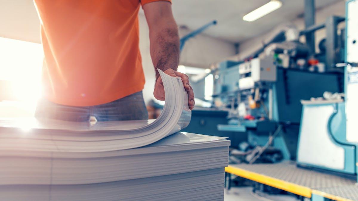 Imprimerie, homme, salarié