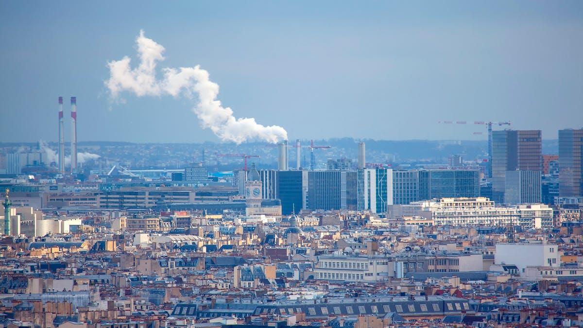 Paris, ciel, pollution