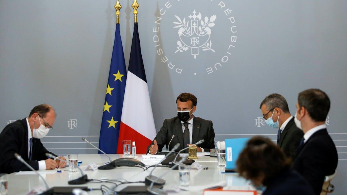 Elysée, réunion, Emmanuel Macron, Jean Castex, Alexis Kohler, Olivier Véran