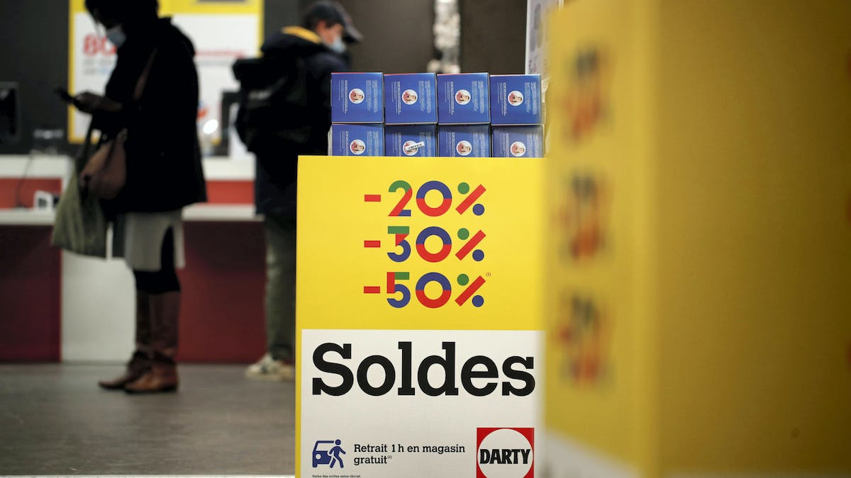 Magasin Darty, clients, soldes