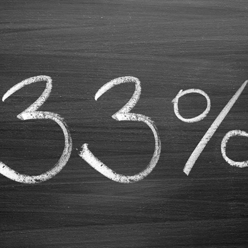 Votre taux d'endettement ne doit pas dépasser 33% de vos revenus