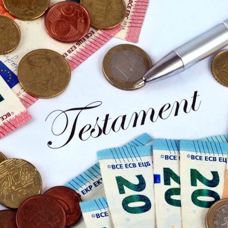 Le coût d'un testament dépend de sa forme et des conseils donnés